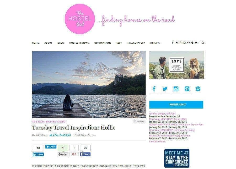 Tuesday Travel Inspiration: Hollie